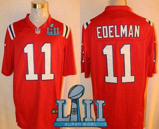 sneakers for cheap a1e11 77b59 Men's New England Patriots #11 Julian Edelman Red Alternate ...