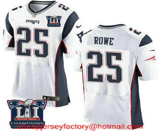 ... Mens New England Patriots 25 Eric Rowe White 2017 Super Bowl LI  Champions Patch Stitched NFL ... 02f229fd1