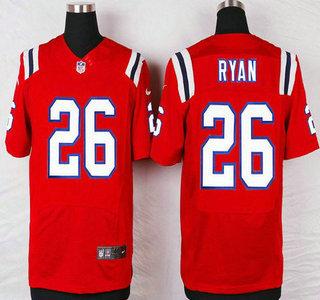 mens new england patriots 26 logan ryan red alternate nfl nike elite jersey