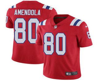 4e3e149f0 Men's New England Patriots #80 Danny Amendola Red 2017 Vapor Untouchable  Stitched NFL Nike Limited Jersey