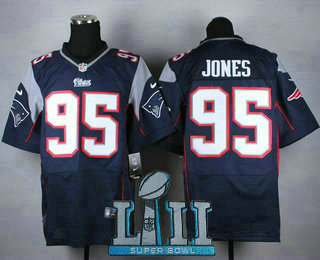 Top Men's New England Patriots #95 Chandler Jones Navy Blue Team Color  for sale