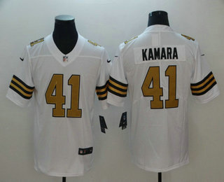 the latest 9f986 1d310 Men's New Orleans Saints #41 Alvin Kamara White 2016 Color ...