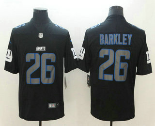 28f2e59d1 Men s New York Giants  26 Saquon Barkley Black 2018 Fashion Impact Black  Color Rush Stitched