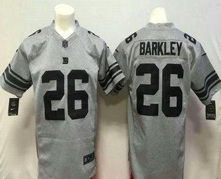 Men s New York Giants  26 Saquon Barkley Nike Gray Gridiron 2018 NFL Gray  Limited Jersey ea21aa21d