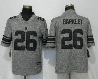 103d8697c97 Men's New York Giants #26 Saquon Barkley Nike Gray Gridiron 2018 Vapor  Untouchable NFL Gray Limited Jersey