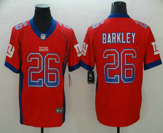 best website d7234 9644c Men's New York Giants #26 Saquon Barkley Red 2018 Fashion ...