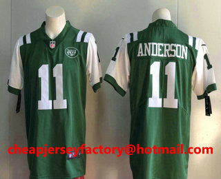 Cheap Men's New York Jets #11 Robby Anderson Green 2017 Vapor Untouchable