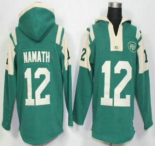 cde01c756 Men s New York Jets  12 Joe Namath Green Retired Player 2015 NFL Hoodie