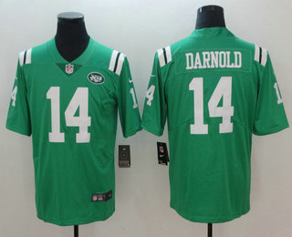 40959467edd Men s New York Jets  14 Sam Darnold Green 2018 Color Rush Stitched NFL Nike  Limited Jersey