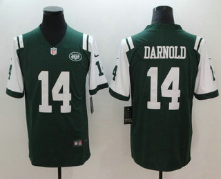 Men's New York Jets #14 Sam Darnold Green 2018 Vapor Untouchable  for sale