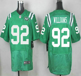 newest dceac 1ced6 Men's New York Jets #92 Leonard Williams Nike Kelly Green ...