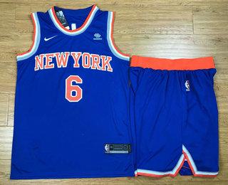 Men s New York Knicks  6 Kristaps Porzingis New Blue 2017-2018 Nike Swingman  Squarespace 8c7a4c8fa