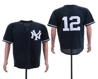 quality design 8c59b b87f6 Men's New York Yankees #2 Derek Jeter Nike Navy Blue Fade ...
