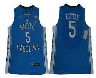 promo code f95a3 b0156 Men's North Carolina Tar Heels #5 Nassir Little Blue College ...