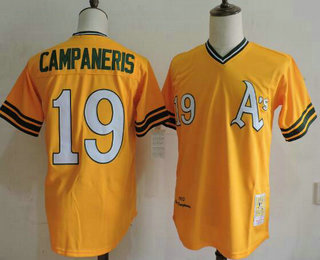 online store bd094 79b0b Men's Oakland Athletics #19 Bert Campaneris 1972 Cooperstown ...