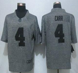 03895d2a45c Men s Oakland Raiders  4 Derek Carr Nike Gray Gridiron 2015 NFL Gray  Limited Jersey