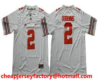 quality design 9b107 5218d Men's Ohio State Buckeyes #2 J. K. Dobbins White Limited ...