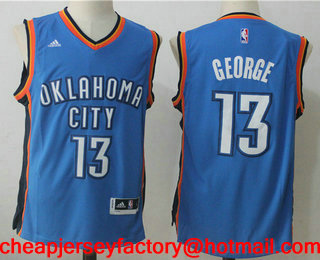 06ecb7d1c8a Men s Oklahoma City Thunder  13 Paul George Royal Blue Stitched NBA  Revolution 30 Swingman Jersey