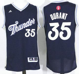 Men's Oklahoma City Thunder #35 Kevin Durant Revolution 30 Swingman 2015 Christmas Day Blue Jersey