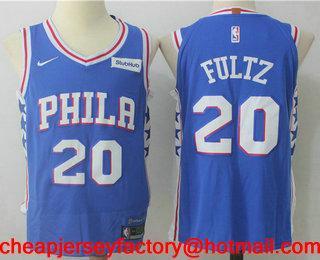 ed1bc2c5459e Men s Philadelphia 76ers  20 Markelle Fultz Royal Blue 2017-2018 Nike  Authentic Stubhub Stitched NBA Jersey