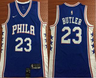 cd1f37868 Men s Philadelphia 76ers  23 Jimmy Butler Royal Blue 2017-2018 Nike  Swingman Stitched NBA Jersey