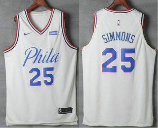 Men s Philadelphia 76ers  25 Ben Simmons Cream Nike City Edition Swingman  Stubhub Stitched NBA Jersey e074f6da4