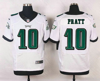 Men's Philadelphia Eagles #10 Quron Pratt White Road NFL Nike Elite Jersey