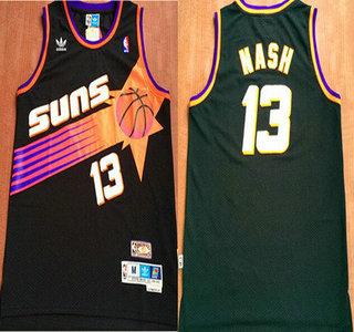 san francisco 74eff ad901 Men's Phoenix Suns #13 Steve Nash Black Hardwood Classics ...