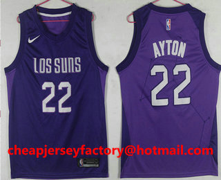 size 40 d0437 7249e Men's Phoenix Suns #22 Deandre Ayton Purple City Edition ...