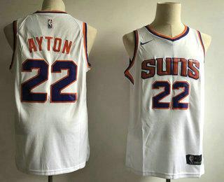 93cb7b77d Men s Phoenix Suns  22 Deandre Ayton White 2018 Nike Swingman Stitched NBA  Jersey (Without The Sponsor Logo)