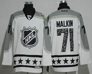 e9f4b3797fe ... Stitched NHL Mens Pittsburgh Penguins 71 Evgeni Malkin Metropolitan  Division Reebok White 2017 NHL All-Star ...