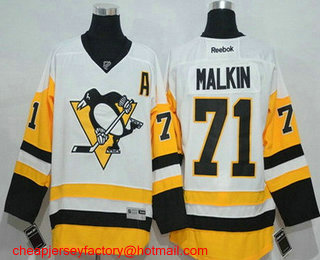 3f0f35944 ... Mens Pittsburgh Penguins 71 Evgeni Malkin White 2016-17 Home Stitched  NHL Reebok Hockey Mens Pittsburgh Penguins Jerseys 87 Sidney Crosby 81 Phil  Kessel ...