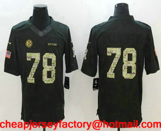 ... Jersey Mens Pittsburgh Steelers 78 Alejandro Villanueva Black  Anthracite 2016 Salute To Service Stitched NFL Nike Limited ... 2b014dd1f