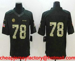 ce9d55994 Men s Pittsburgh Steelers  78 Alejandro Villanueva Black Anthracite 2016  Salute To Service Stitched NFL Nike