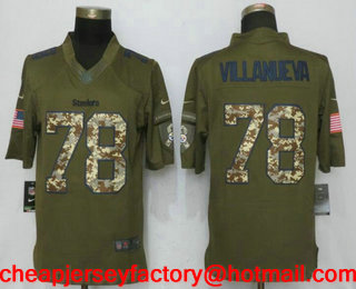 056b699cf ... Mens Pittsburgh Steelers 78 Alejandro Villanueva Green Salute To  Service Stitched NFL Nike Limited Jersey Nike Alejandro Villanueva Womens  Black ...