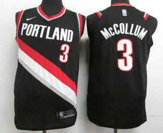 70351fcfcb32 Men s Portland Trail Blazers  3 C.J. McCollum New Black 2017-2018 Nike  Authentic Stitched NBA Jersey