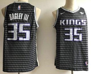 5de15fe645eb Men s Sacramento Kings  35 Marvin Bagley III Black Nike 2018 NBA Swingman  City Edition Jersey