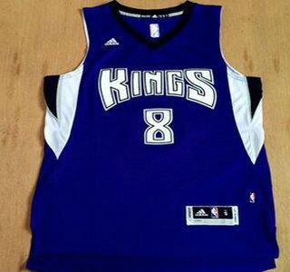 3d4c8bce1 Men s Sacramento Kings  8 Rudy Gay Revolution 30 Swingman New Purple Jersey