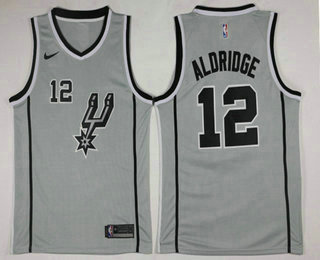 52d6777e916 Men's San Antonio Spurs #12 LaMarcus Aldridge White 2017-2018 Nike Icon  Edition Swingman Jersey
