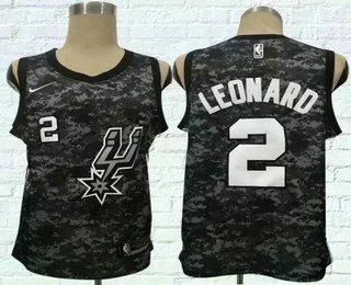 Men s San Antonio Spurs  2 Kawhi Leonard Black City Edition Nike Swingman  Jersey 320c3d62a