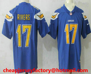 new products e6f48 9ae7d Men's Los Angeles Chargers #17 Philip Rivers Royal Blue 2016 ...