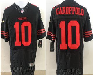 super popular f1a5f fceff Men's San Francisco 49ers #10 Jimmy Garoppolo Black ...
