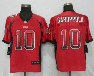 online store d2d66 387ed Men's San Francisco 49ers #10 Jimmy Garoppolo Red Drift ...