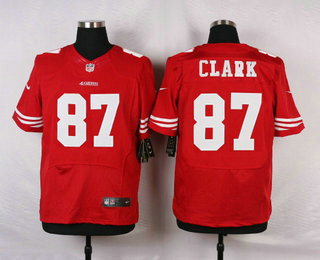 finest selection eff7a 847ff Men's San Francisco 49ers #87 Dwight Clark Scarlet Red ...