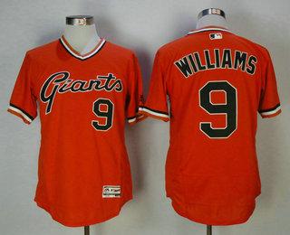 Men's San Francisco Giants #9 Matt Williams Retired Orange Pullover 2016 Flexbase Majestic Baseball Jersey