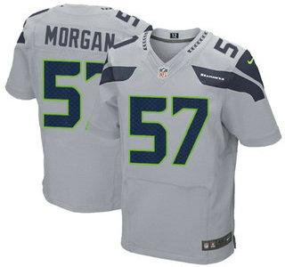 Men's Seattle Seahawks #83 Ricardo Lockette Gray Alternate NFL Nike Elite Jersey
