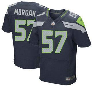 Men's Seattle Seahawks #57 Mike Morgan Navy Blue Team Color NFL Nike Elite Jersey