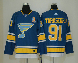wholesale dealer d1184 1ce58 Men's St. Louis Blues #91 Vladimir Tarasenko Blue Alternate ...