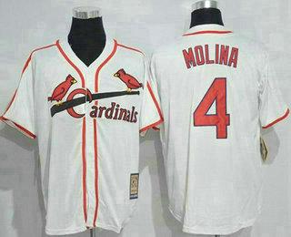 pretty nice b917f 48f4f Men's St. Louis Cardinals #4 Yadier Molina Light Blue Cool ...