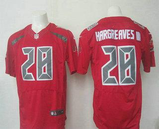 mens tampa bay buccaneers 28 vernon hargreaves iii red team color nfl nike elite jersey